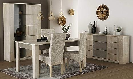 Miroytengo Pack Muebles salón con 4 sillas Estilo Moderno ...