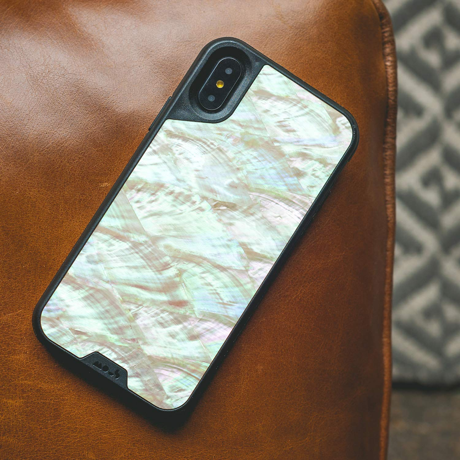 Real Walnut Wood Screen Protector Inc. Mous Protective iPhone X//XS Case