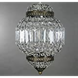 Classic Morrocan Lantern Style Antique Brass Clear Acrylic Ceiling Light Shade Easy Fit Pendant