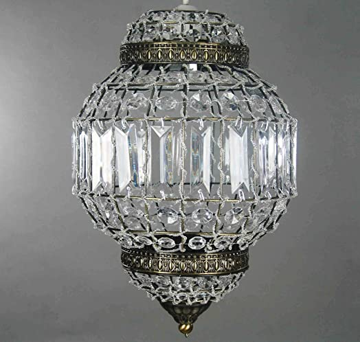 Classic morrocan lantern style antique brass clear acrylic ceiling classic morrocan lantern style antique brass clear acrylic ceiling light shade easy fit pendant aloadofball Image collections