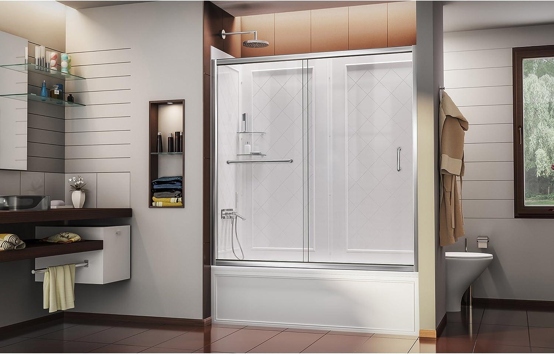 DreamLine Infinity-Z 56 A 152,4 cm sin marco puerta corredera bañera y QWALL-Tub Back paredes Kit: Amazon.es: Bricolaje y herramientas