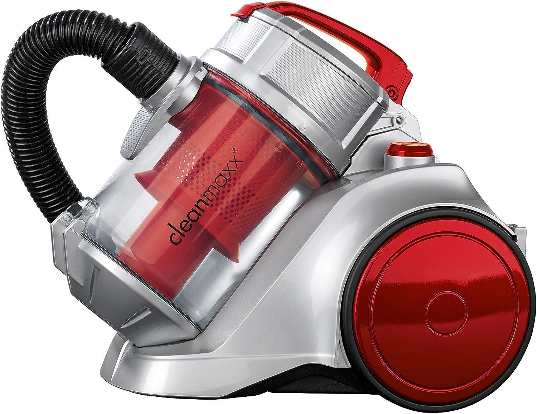 TV Unser Original 08864 cleanmaxx Energie Plus - Aspirador ciclónico, 850 W, color plateado y rojo: Amazon.es: Hogar