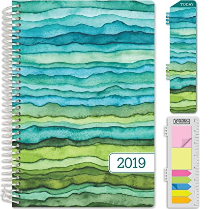 HARDCOVER Calendar Year 2019 Planner: (November 2018 Through December 2019) 5.5