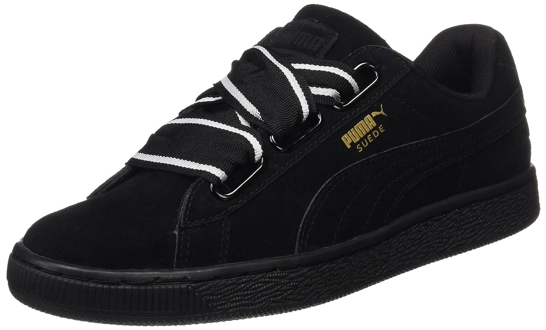 Puma Suede Heart Satin II, Zapatillas para Mujer 36 EU|Negro (Black-black)