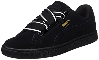 huge selection of 9ee87 9d173 Amazon.com | PUMA Women's Suede Heart Satin Ii Trainers ...