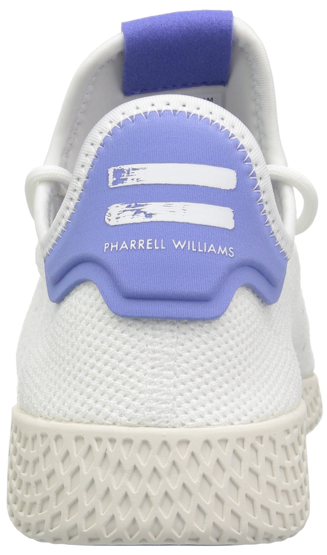 adidas Originals Men's Pharrell Williams Tennis HU Running Shoe, White/Chalk, 5.5 M US by adidas Originals (Image #2)