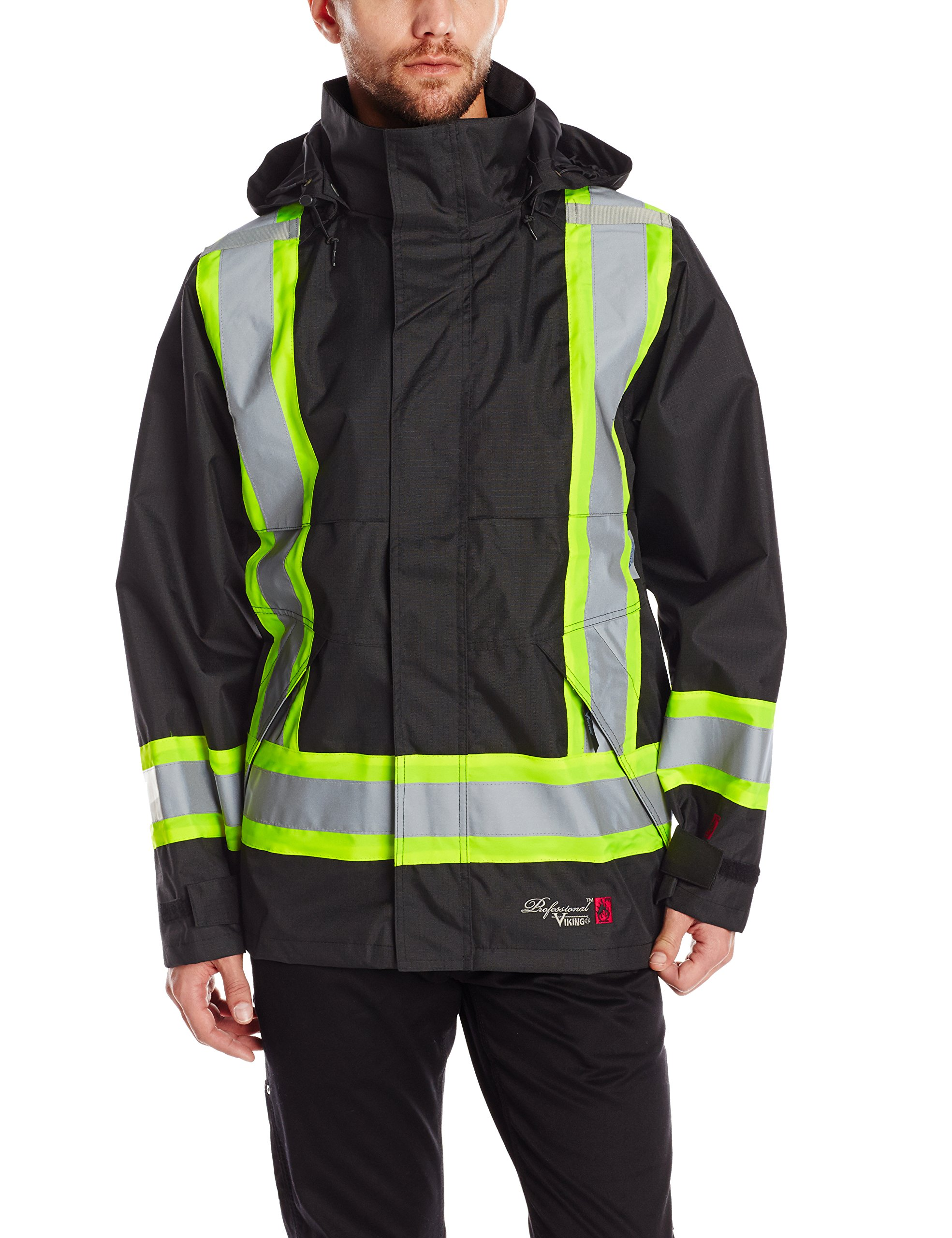 Viking Professional Journeyman FR Waterproof Flame Resistant Jacket, Black, 2XL by Viking
