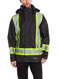 Viking Professional Journeyman FR Waterproof Flame Resistant Jacket, Black, 2XL