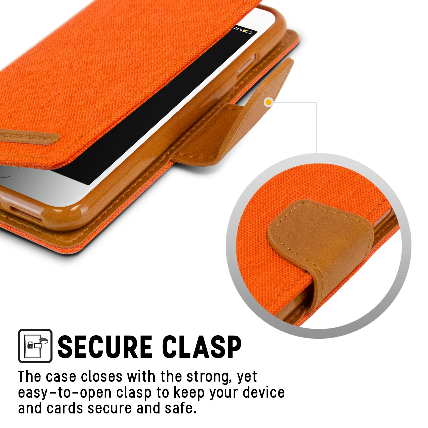 Iphone 8 Case 7 Drop Protection Goospery Canvas Diary Blue Denim Material Wallet Card Cash Slot Stand Flip Cover Tpu Casing