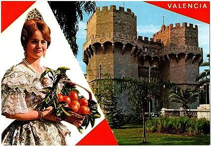 ANTIGUA TARJETA POSTAL POSTCARD POST CARD VALENCIA BELLEZAS DE LA CIUDAD BEAUTIES OF THE CITY GARCÍA GARRABELLA. AÑOS 60 70 APROX. CARTE POSTALE ESPAÑA SPAIN: Amazon.es: Oficina y papelería