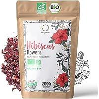 🌺 BIO HIBISCUSBLOEMEN 200g Superieure Kwaliteit | Hibiscusbloem voor Bissap, Ijsthee, Thee en Kruidenthee | Drainerende…