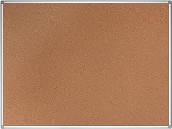 Hochwertige Naturkorkoberfl/äche 90 x 60 cm Mit Aluminiumrahmen Bi-Office Korktafel New Generation Pinnwand