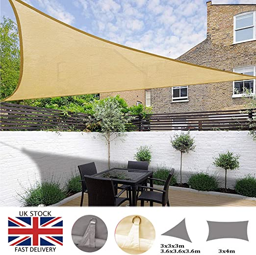 Parasol Impermeable para Exteriores, jardín, Patio, Fiesta, Protector Solar Awing 98% Bloque UV: Amazon.es: Jardín