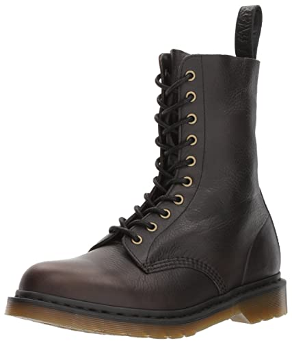 ef8e9359221 Dr. Martens Mens 1490 10 Eye Rugged Harvest Leather Boots: Amazon.co ...