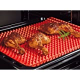 Pyramid Pan Silicone baking Tray Cooking Mat Non Stick Fat Reducing Oven Shopmonk