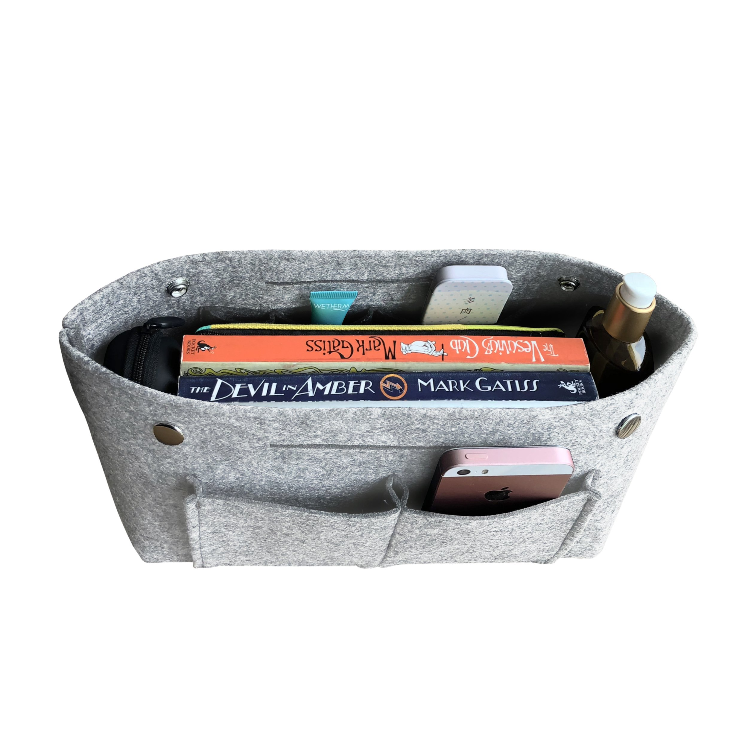 APSOONSELL Felt Tote Handbag Organizer Insert for Women, Light Grey - Large by APSOONSELL (Image #3)