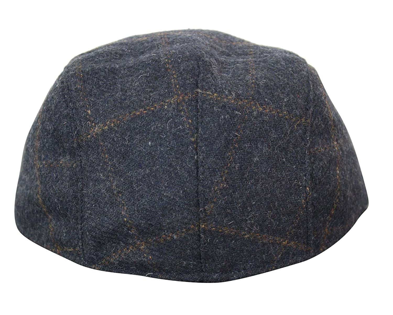 f37cd13da Mens Herringbone Tweed Wool Check Grandad Flat Caps Hats Vintage Green Grey  Blue Brown