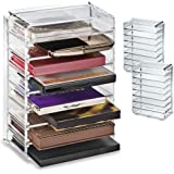 byAlegory (Set of 2) Acrylic Makeup Palette Organizer With Removable Dividers Designed To Stand & Lay Flat 8 Spaces Fits…