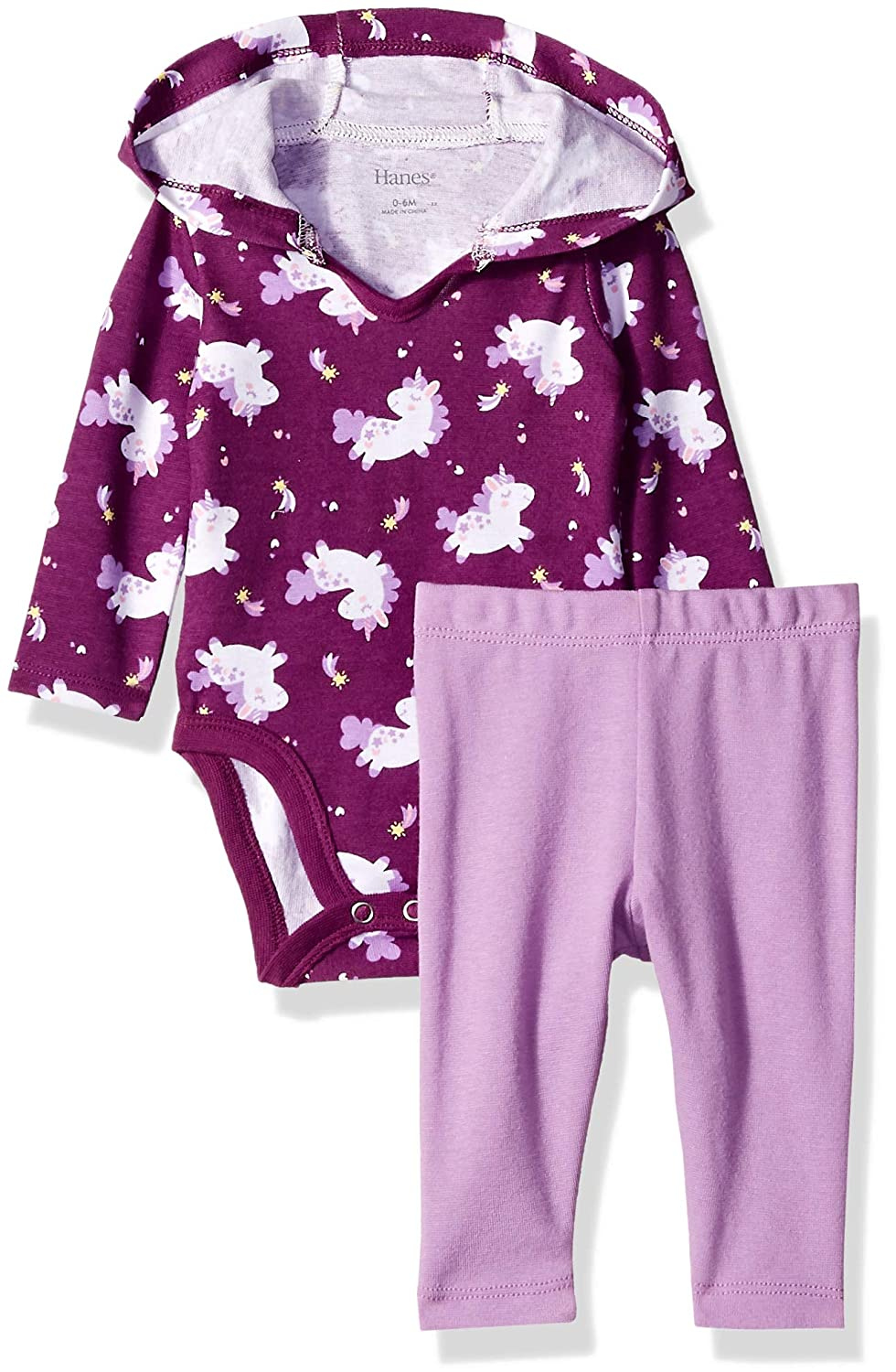 Hanes Ultimate Baby Flexy 2 Piece Set Pant with Hoodie Bodysuit