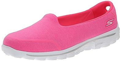 Skechers Performance Womens Go Walk 2 Bind Slip-On Walking Shoe