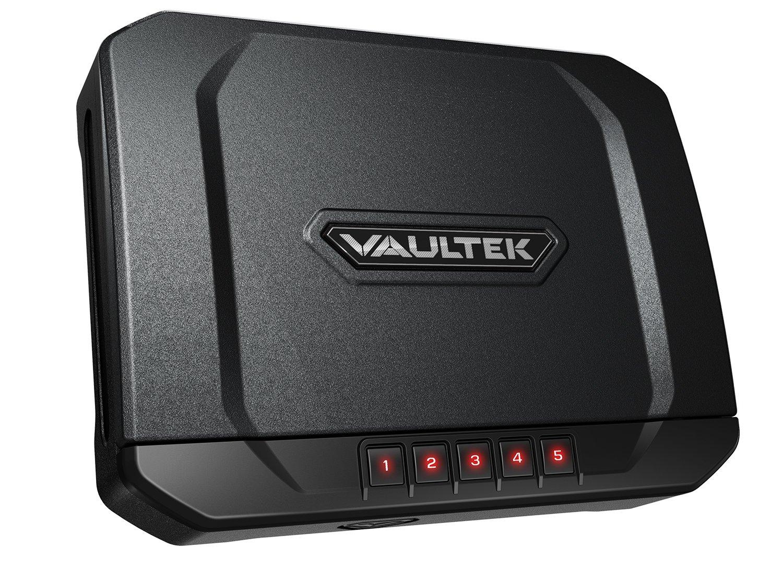 Vaultek Essential Series Quick Access Portable Safe Auto Open Lid Quick-Release Security Cable Rechargeable Lithium-ion Battery (VE20 (Compact Safe))
