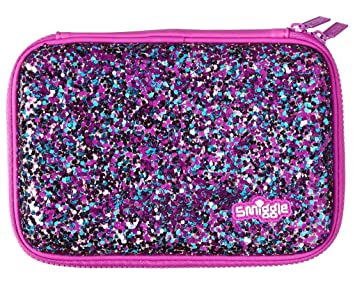 sale retailer ed081 cce81 Smiggle Pencil Case Hardtop Double Zip - Purple Sparkle