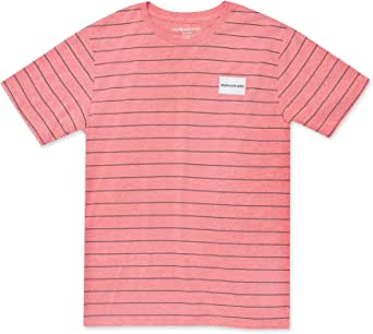 CALVIN KLEIN Boys' Short Sleeve Stripe Crew Neck