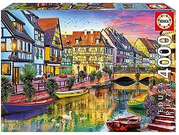 Educa Borrás - 4000 Canal de Colmar, Francia, Puzzle (17134): Amazon.es: Juguetes y juegos