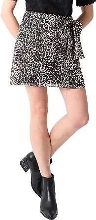 Scalpers Falda Pareo Leopardo Brillo - Falda para Mujer, Talla XS ...