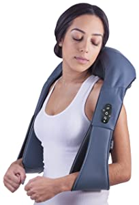 Bruntmor, Cordless Shiatsu Neck & Back 3-D Heat Kneading Massager