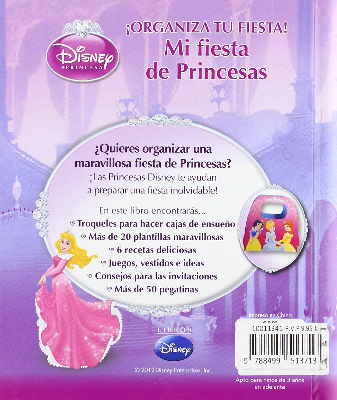 Princesas. Mi fiesta de princesas: Disney: 9788499513713: Amazon.com: Books