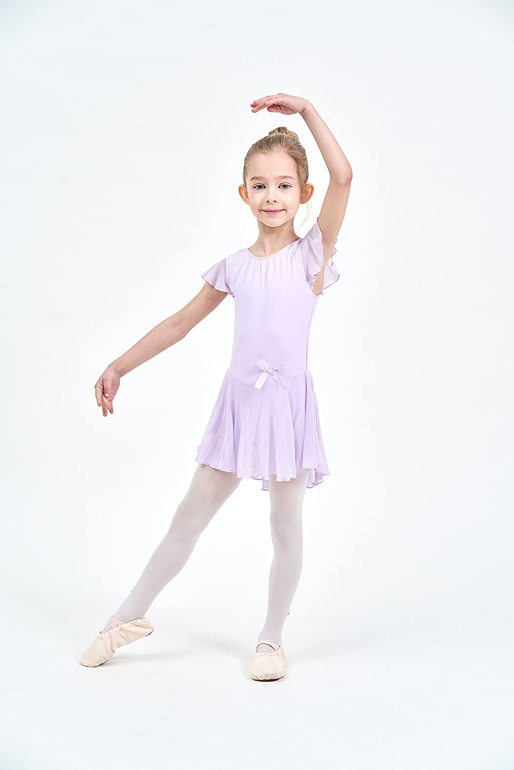 8a53b3f13 Amazon.com  Ferlema Girls  Skirted Ballet Leotard with Snap Crotch ...