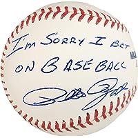 "$99 » Pete Rose Autographed Official MLB Baseball Cincinnati Reds""I'm Sorry I Bet On Baseball"" PR Holo Stock #177468"