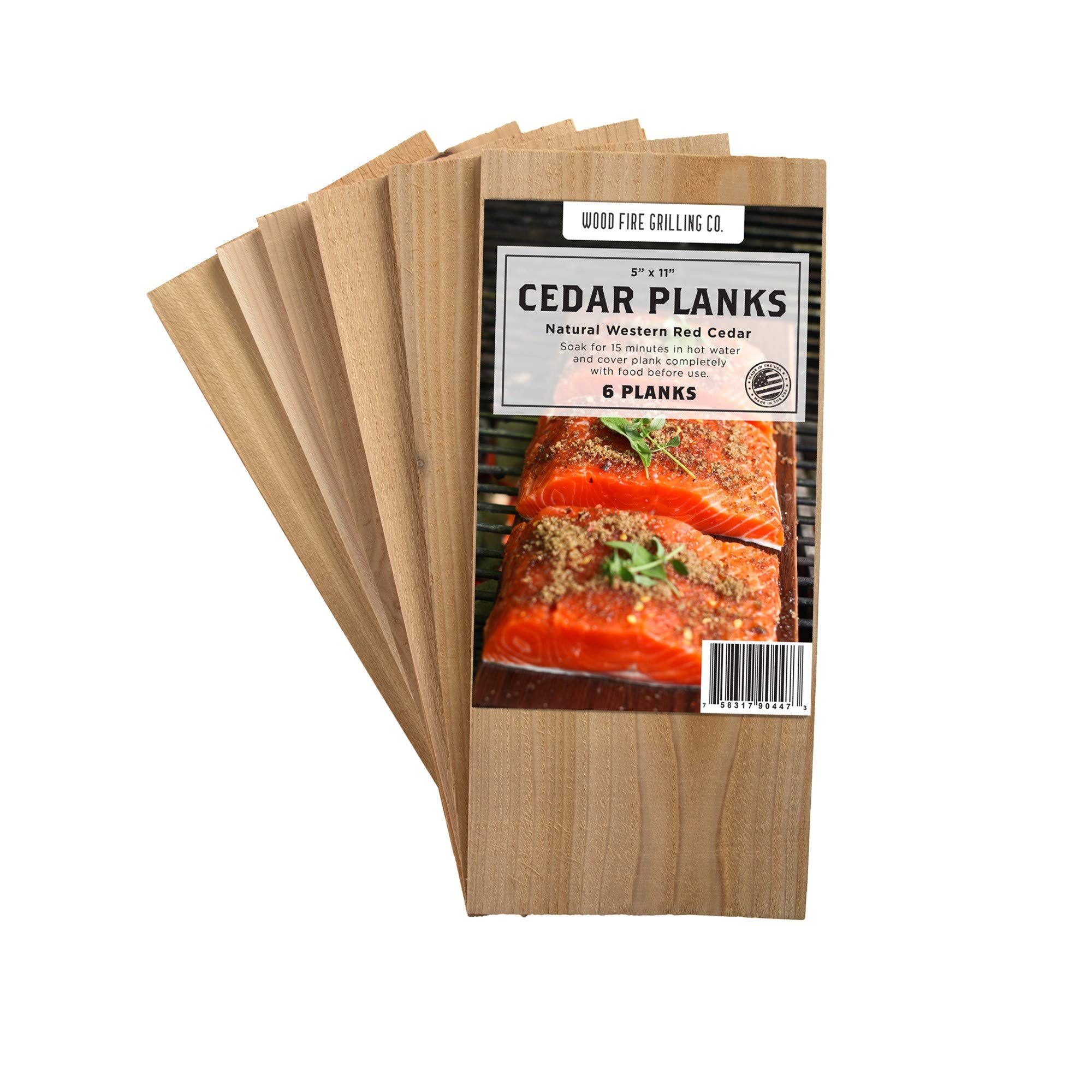"""Seafood and Veggies Add Flavor and Smoke to Salmon BBQ Fish Cedar Grilling Planks. 4//10/"""" Size Nature Carrier Premium Cedar Planks for Grilling 12 Pack with Bigger and Thicker 12/""""x 6/"""""""