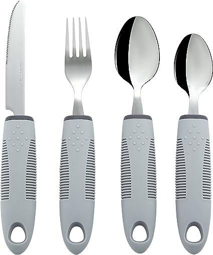 Amazon.com: Utensilios adaptativos (juego de cocina de 4 ...