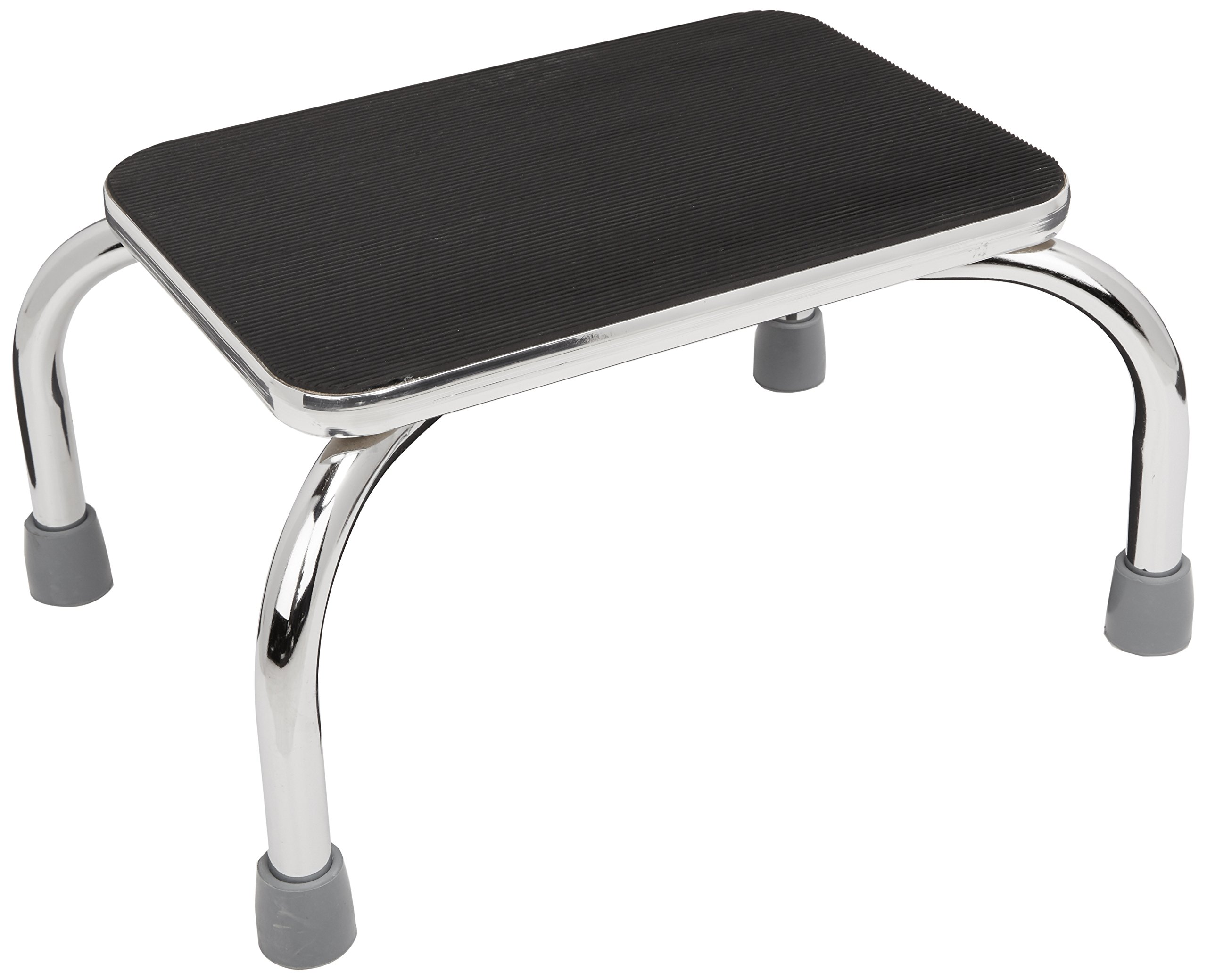 Sammons Preston Footstool, Foot Step Stool with Rubber Feet and Non Skid Rubber Platform Surface for Preventing Slipping, Bathroom and Kitchen Aid for Helping Individuals Reach Sinks and Cabinets