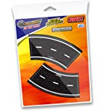 "InRoad Toys PlayTape 2"" Broad Road Curves (1 Pack of 4 Curves)"