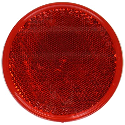 Grote 40052 Red Round Stick-On Reflector: Automotive