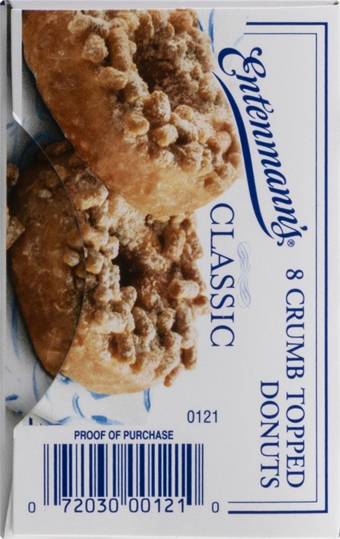 Entenmann clásico de la Migaja Topped Donuts – 8 Ct: Amazon ...