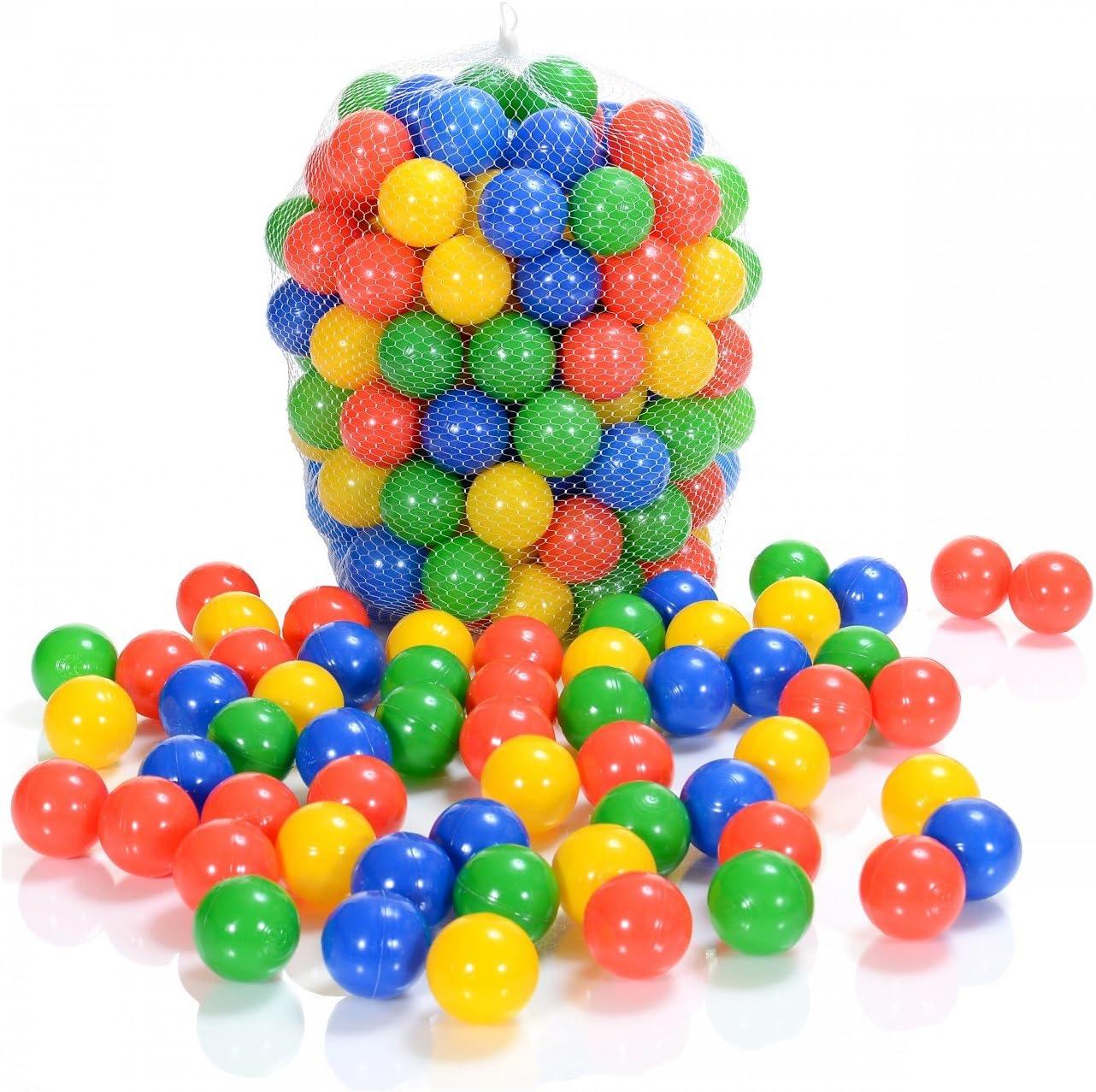 LCP Kids 100 Bolas Piscina Infantil Plástico para Niño +1 Años | 6 cm Diámetro | Pelotas Juegos