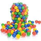 100 Pièces balles colorées plastique de piscine pour enfants et bébé de 1 mois d'âge (selon TÜV Rheinland Test Report novembre 2016)