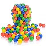 LCP Kids 100 palline colorate plastica 6 cm di diametro per bambini piscine giocattolo e TUV Rheinland