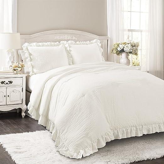 Amazon Com Lush Decor Reyna Comforter Ruffled 2 Piece Bedding Set