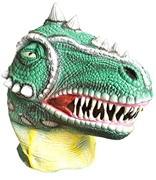 Ciao 21196, Máscara dinosaurio de látex, verde