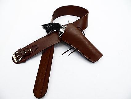 Shotgun Lilli Western Gun Belt with Cross Draw Holster Combo - Leather -  Brown