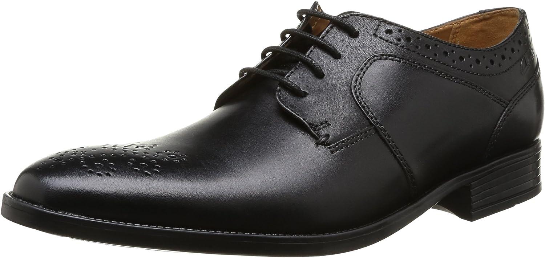 TALLA 42 EU. Clarks Kalden Edge - Zapatos con Cordones de Cuero Hombre