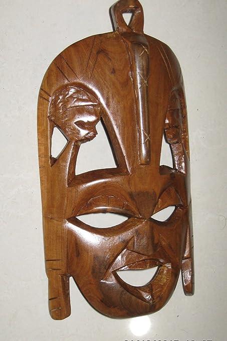 Amazon.com: Máscara Africana de madera tribal arte: Home ...