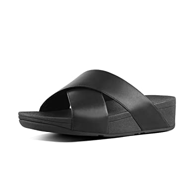 6c0a3a2e2 Image Unavailable. Image not available for. Color  FitFlop Women s Lulu  Cross Slide Leather Sandal