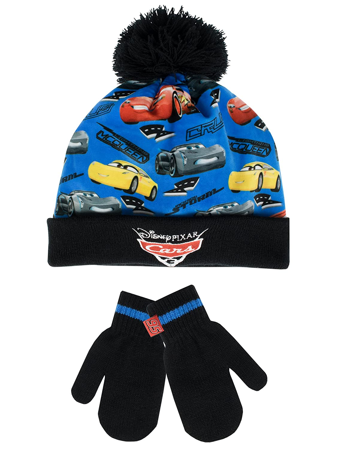 Disney Cars Boys' Cars Hat and Gloves Set Size 6 - 8 Years