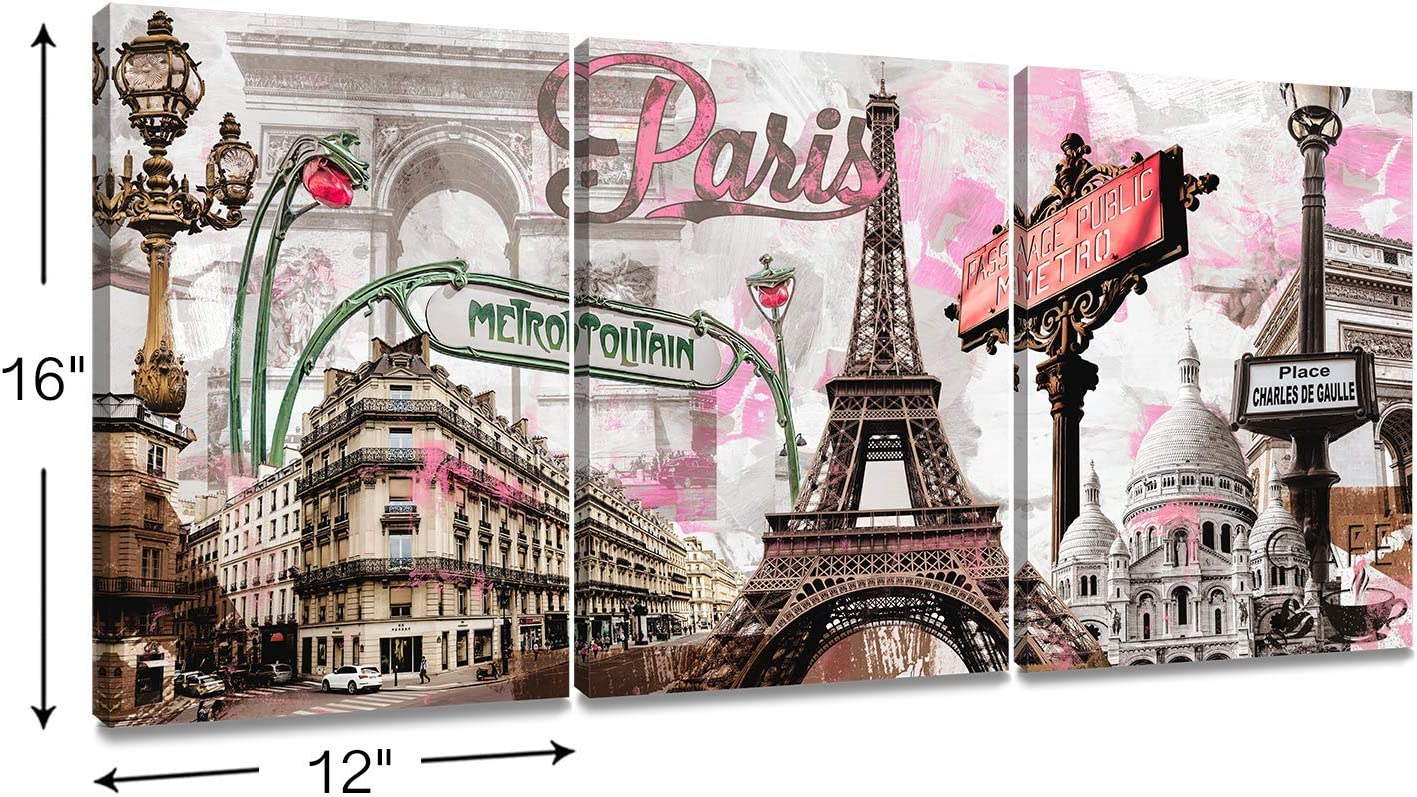 Framed \ Unframed Oil Painting on Canvas PARIS Eiffel Tower